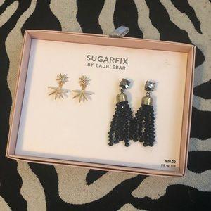 NWT two pair Sugarfix by Baublebar earrings